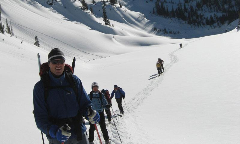 Backcountry Skiing near Sun Valley Idaho