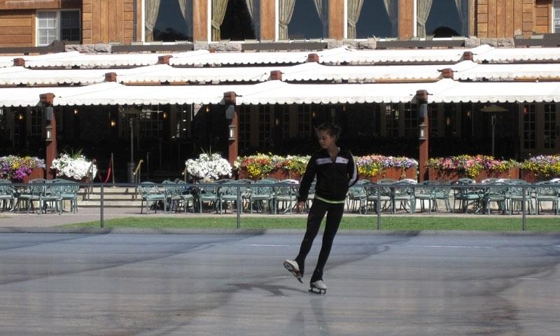Ice Skating at the Sun Valley Lodge