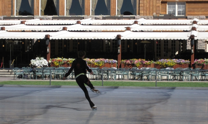 Ice Skating at the Sun Valley Lodge