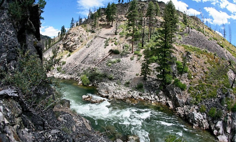 The Middle Fork of the Salmon River in Idaho